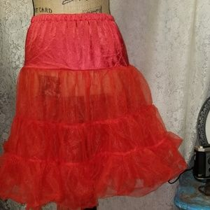 Vintage/Private Label Accessories - 🎉HP 11/9🥳 RED CRINOLINE UNDERSKIRT(PETTICOAT)